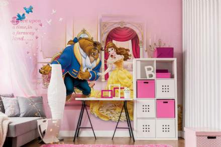 Beauty and The Beast Disney wall mural